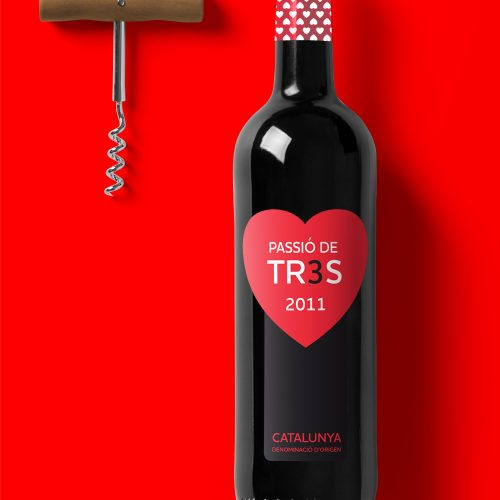 Passió de TR3S | Label wine design