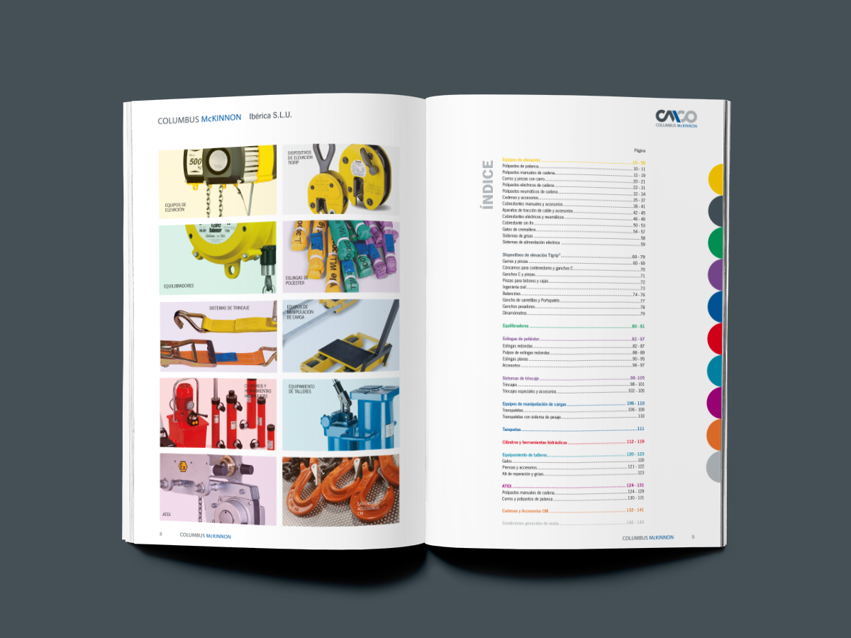 CMCO | Price List Catalog design for Spain